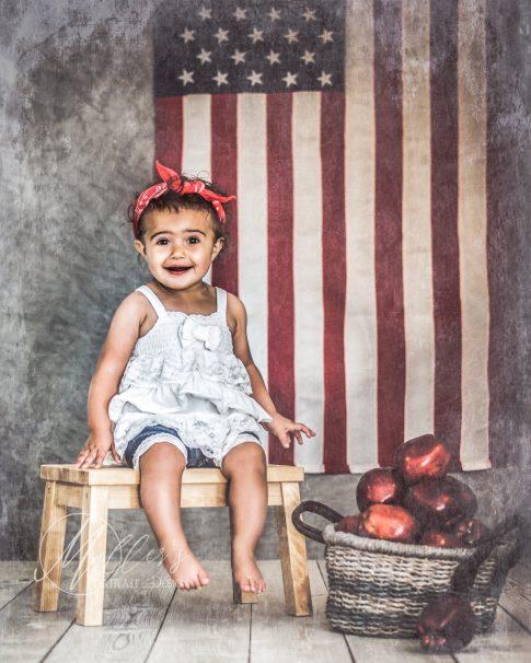 American Flag Backdrop Vertical