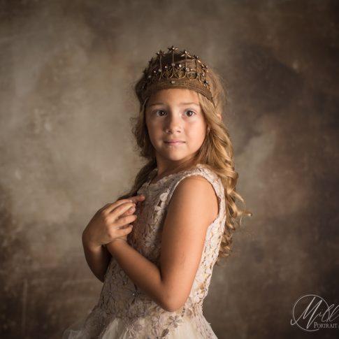 Princess on the Dusty Sky Backdrop