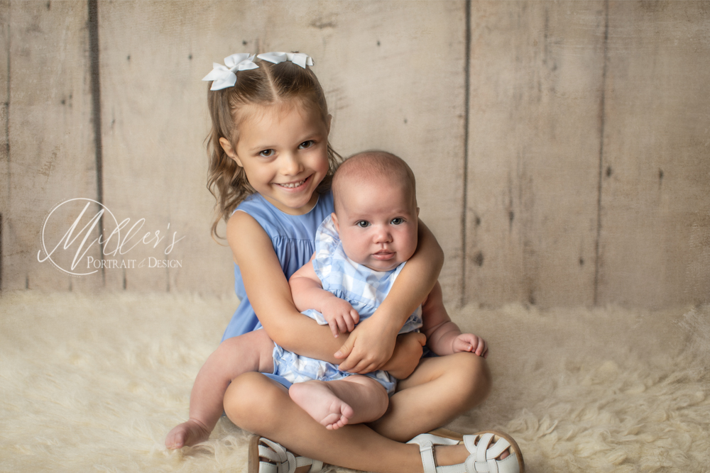 Family portraits with babies and young children
