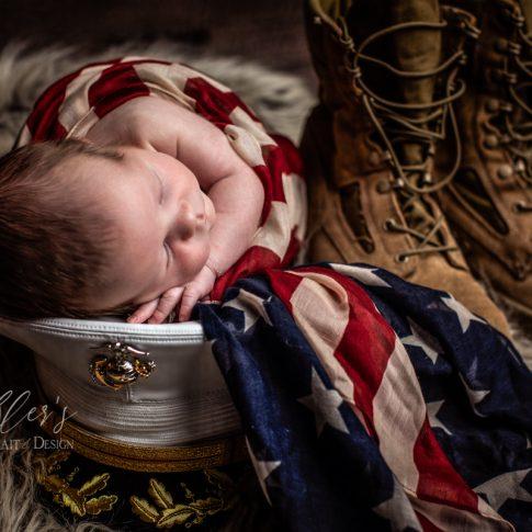 Military Family and Newborn Portraits
